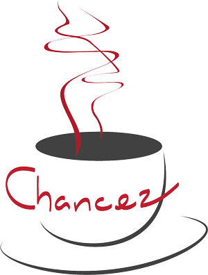 chancez cafe coffee cup logo