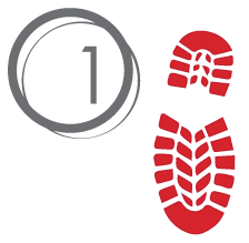 red footstep 1