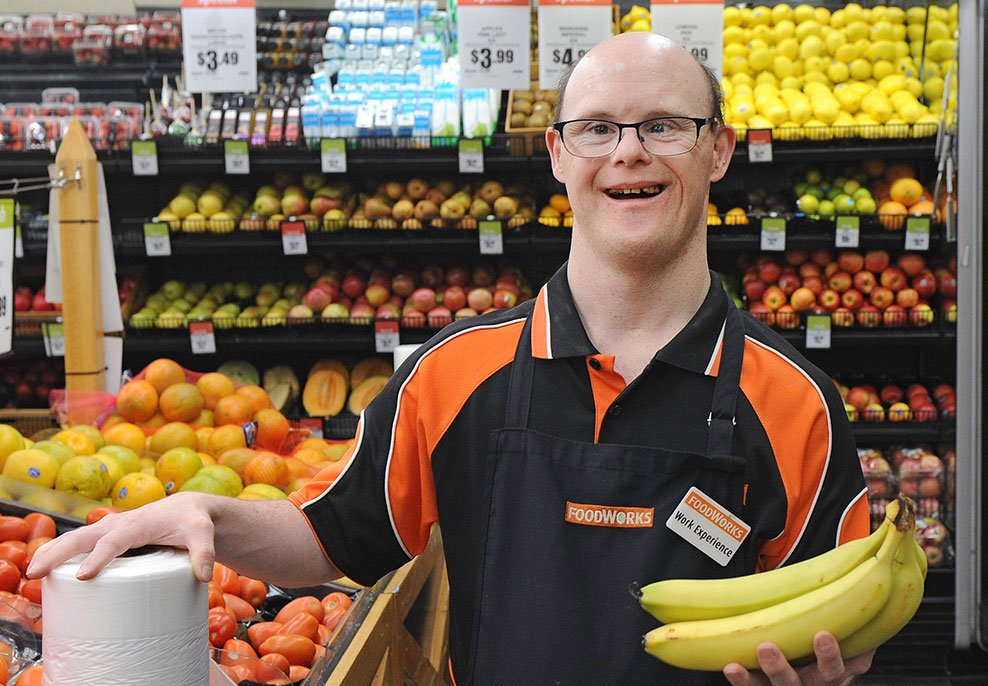 man working in supermarket learning with Chancez Skill Development