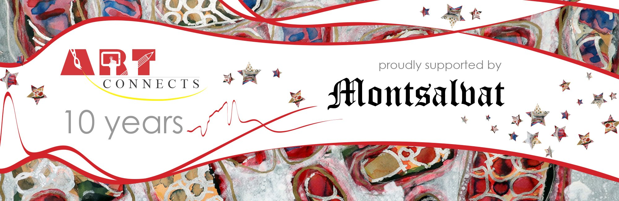 Art Connects tenth anniversary banner supported by Montsalvat
